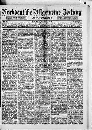 Norddeutsche allgemeine Zeitung vom 09.06.1879