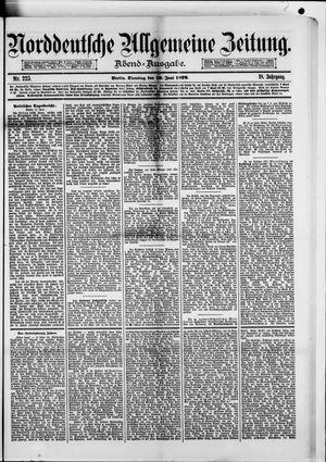 Norddeutsche allgemeine Zeitung vom 10.06.1879