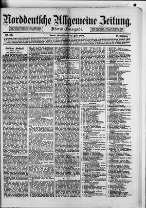 Norddeutsche allgemeine Zeitung vom 11.06.1879