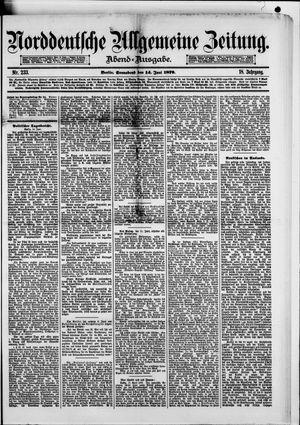 Norddeutsche allgemeine Zeitung vom 14.06.1879
