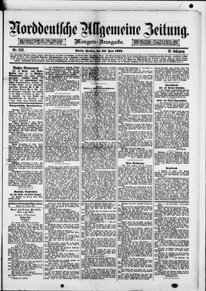 Norddeutsche allgemeine Zeitung vom 20.06.1879
