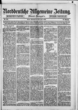 Norddeutsche allgemeine Zeitung vom 25.06.1879