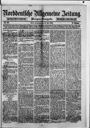 Norddeutsche allgemeine Zeitung vom 10.07.1879