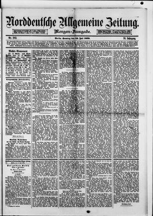 Norddeutsche allgemeine Zeitung vom 13.07.1879