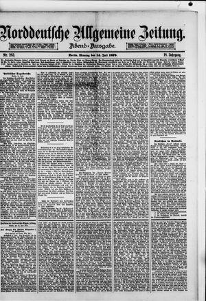 Norddeutsche allgemeine Zeitung vom 14.07.1879