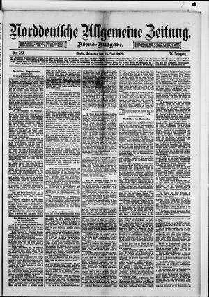 Norddeutsche allgemeine Zeitung on Jul 15, 1879