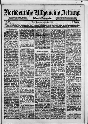Norddeutsche allgemeine Zeitung vom 17.07.1879
