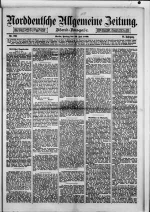 Norddeutsche allgemeine Zeitung vom 18.07.1879