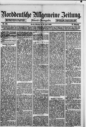 Norddeutsche allgemeine Zeitung vom 21.07.1879