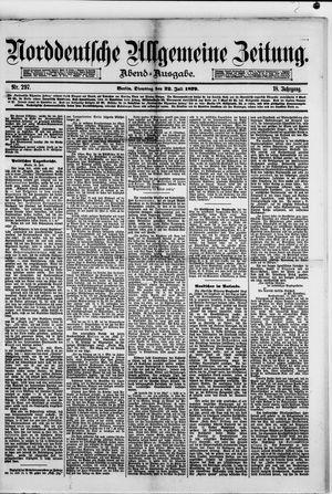 Norddeutsche allgemeine Zeitung vom 22.07.1879