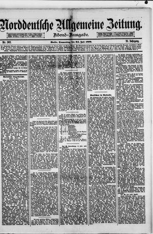 Norddeutsche allgemeine Zeitung vom 24.07.1879