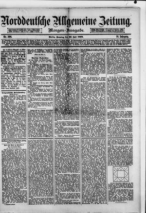 Norddeutsche allgemeine Zeitung vom 27.07.1879