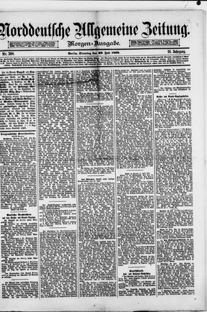 Norddeutsche allgemeine Zeitung vom 29.07.1879