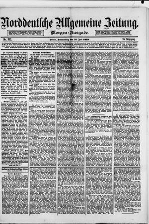 Norddeutsche allgemeine Zeitung vom 31.07.1879