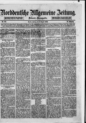 Norddeutsche allgemeine Zeitung vom 01.08.1879