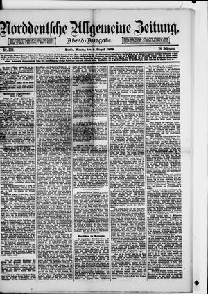 Norddeutsche allgemeine Zeitung vom 04.08.1879