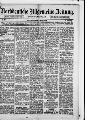 Norddeutsche allgemeine Zeitung vom 05.08.1879