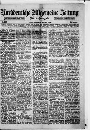 Norddeutsche allgemeine Zeitung on Aug 6, 1879