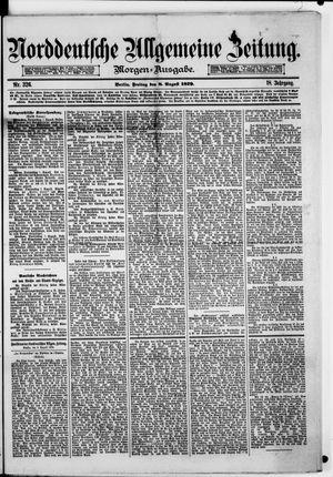 Norddeutsche allgemeine Zeitung vom 08.08.1879