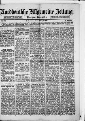 Norddeutsche allgemeine Zeitung vom 09.08.1879