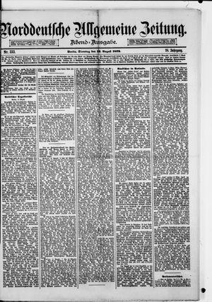 Norddeutsche allgemeine Zeitung vom 12.08.1879