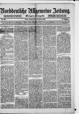 Norddeutsche allgemeine Zeitung vom 13.08.1879