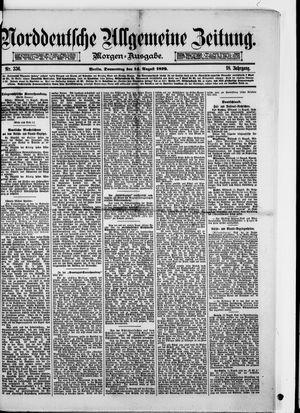 Norddeutsche allgemeine Zeitung vom 14.08.1879