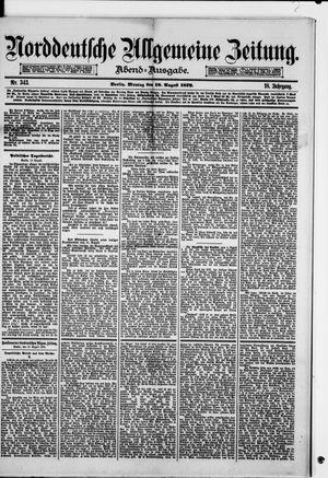 Norddeutsche allgemeine Zeitung vom 18.08.1879