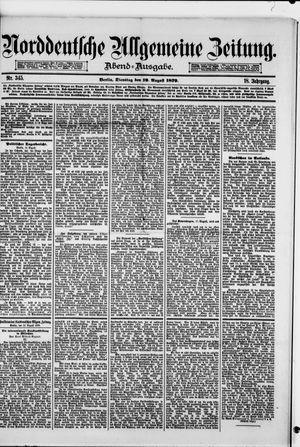 Norddeutsche allgemeine Zeitung vom 19.08.1879