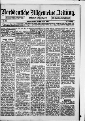 Norddeutsche allgemeine Zeitung vom 20.08.1879