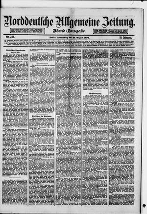Norddeutsche allgemeine Zeitung vom 21.08.1879