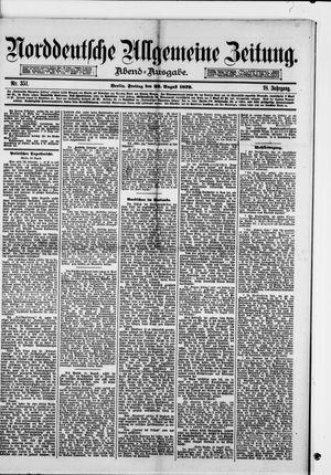 Norddeutsche allgemeine Zeitung vom 22.08.1879