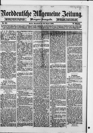 Norddeutsche allgemeine Zeitung vom 23.08.1879