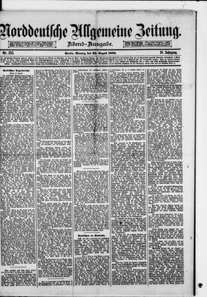 Norddeutsche allgemeine Zeitung on Aug 25, 1879
