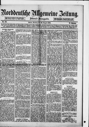 Norddeutsche allgemeine Zeitung vom 26.08.1879