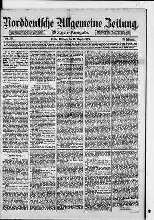 Norddeutsche allgemeine Zeitung vom 27.08.1879