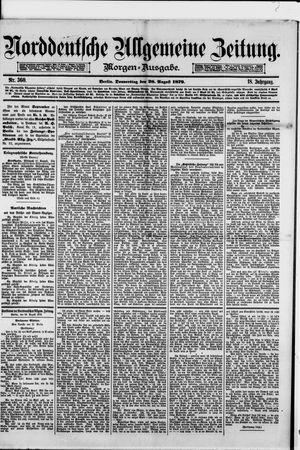 Norddeutsche allgemeine Zeitung vom 28.08.1879