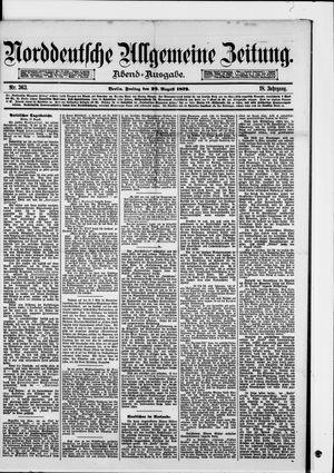 Norddeutsche allgemeine Zeitung vom 29.08.1879