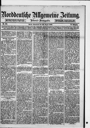 Norddeutsche allgemeine Zeitung vom 30.08.1879
