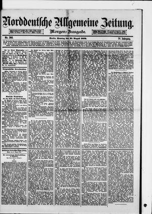 Norddeutsche allgemeine Zeitung vom 31.08.1879