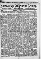 Norddeutsche allgemeine Zeitung (22.09.1879)