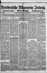Norddeutsche allgemeine Zeitung (22.08.1881)