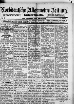 Norddeutsche allgemeine Zeitung vom 08.01.1882
