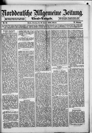 Norddeutsche allgemeine Zeitung vom 10.01.1882