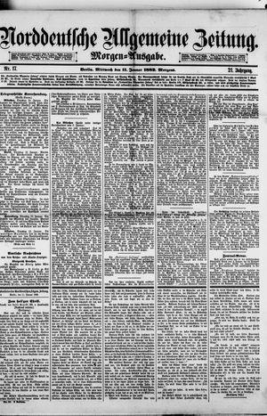 Norddeutsche allgemeine Zeitung vom 11.01.1882