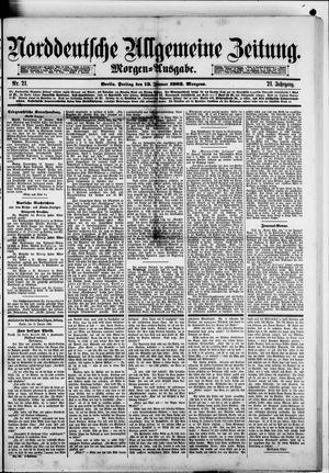 Norddeutsche allgemeine Zeitung on Jan 13, 1882