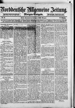 Norddeutsche allgemeine Zeitung vom 14.01.1882