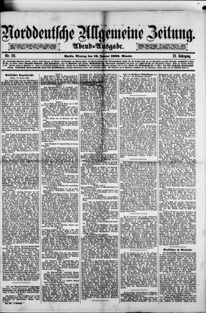 Norddeutsche allgemeine Zeitung vom 16.01.1882