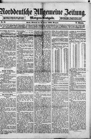 Norddeutsche allgemeine Zeitung vom 18.01.1882