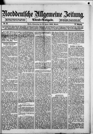 Norddeutsche allgemeine Zeitung vom 19.01.1882